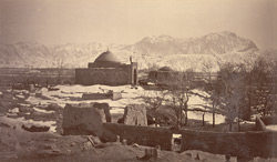 Sha Sahid Mosque showing entrance and Bala Hissar [Kabul].